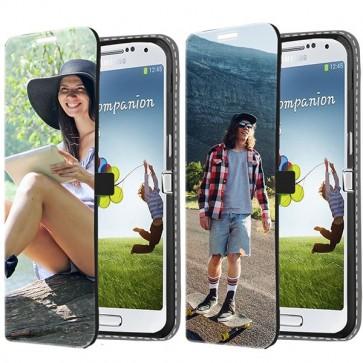 Samsung Galaxy S4 Mini - personalisiertes Wallet Case (Vorderseite bedruckt)