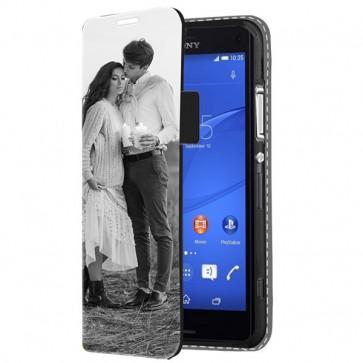 Sony Xperia Z3 Compact - Wallet Case Selbst Gestalten (Vorne Bedruckt)