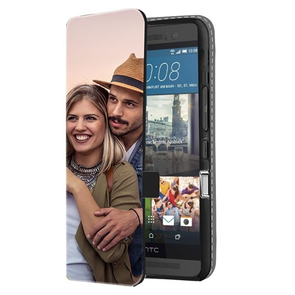 HTC One M9 Case Selbst Gestalten - Flip Cover mit Foto
