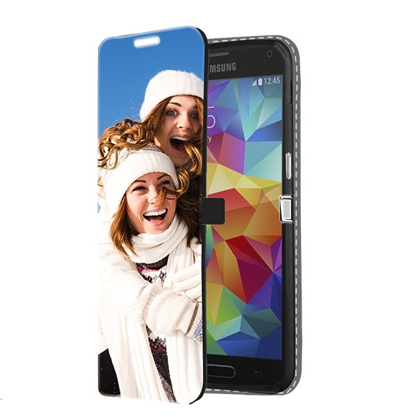 Samsung Galaxy S5 - Wallet Case Selbst Gestalten (Vorne Bedruckt)