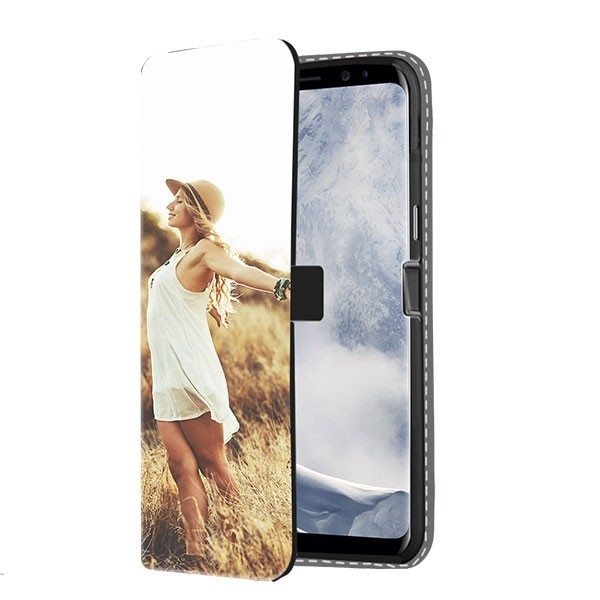 Samsung Galaxy S8 Hülle selbst gestalten - Flip Case - mit Foto