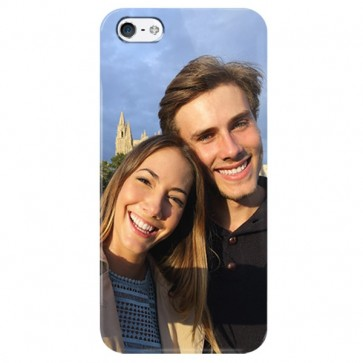 iPhone 5, 5S & SE - Coque Rigide Personnalisée à Bords Imprimés