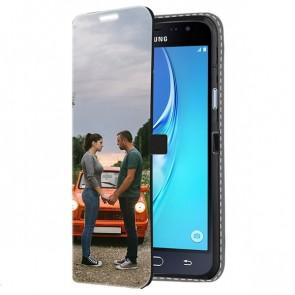 Samsung Galaxy J3 2016 - Coque portefeuille personnalisé (imprimée à l'avant)