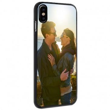 iPhone X - Carcasa personalizada rígida - Negra, blanca o transparente