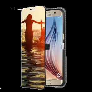 Samsung Galaxy S6 Edge - Carcasa Personalizada Billetera (Impresión Frontal)