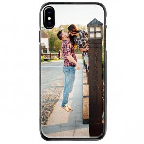 iPhone X - Funda personalizada rígida - Negra, blanca o transparente