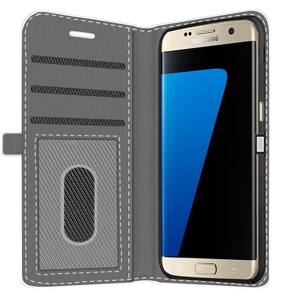 official photos 09bf1 cbf30 Samsung Galaxy S7 Edge - Personalised Wallet Case (Front Printed)