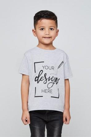 Kinder - Rundhalsausschnitt - T-Shirt selbst gestalten