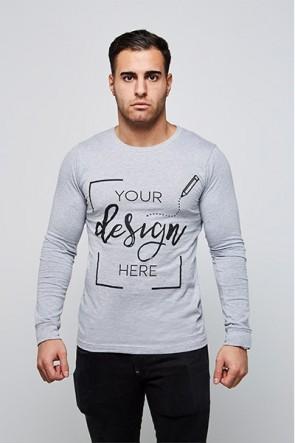 Herren - Langarm Shirt - T-Shirt sebst gestalten