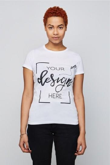 Femme - T-shirt classique - Col rond