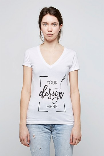 Femme - T-shirt Col V
