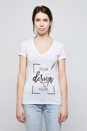 Women - V-Neck - Personalised T-Shirt