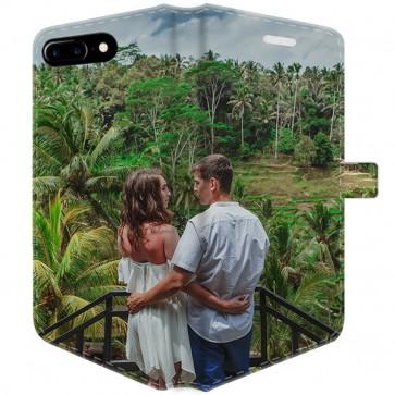 iPhone 8 PLUS - Personaliseret Cover med tegnebog (Fuld print)