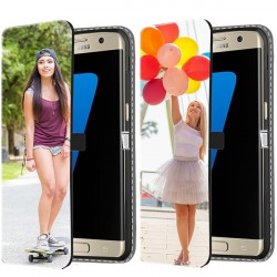 Samsung Galaxy S7 - Personaliseret Tegnebogs Cover (Forside print)