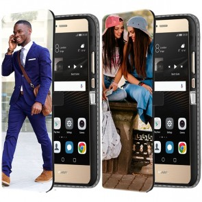 Huawei P8 - Personaliseret Tegnebogs Cover (Front Print)