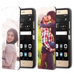 Huawei P9 Lite - Personaliseret Tegnebogs Cover (Front Print)