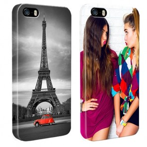 iPhone 5, 5S & SE - Personaliseret Fuld Print Hard Cover