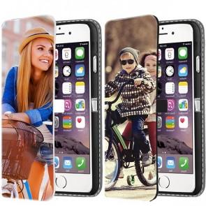 iPhone 6 & 6S - Personaliseret Cover med Tegnebog (Print på forsiden)