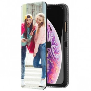 iPhone Xs - Personaliseret Tegnebogs Cover (Print på front)