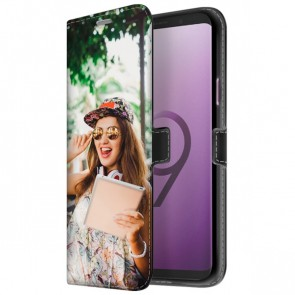 Samsung Galaxy S9 PLUS - Personaliseret Tegnebogs Cover (Front Print)