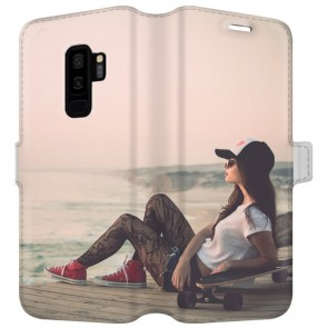 Samsung Galaxy S9 PLUS - Personaliseret Tegnebogs Cover (Fuld Print)