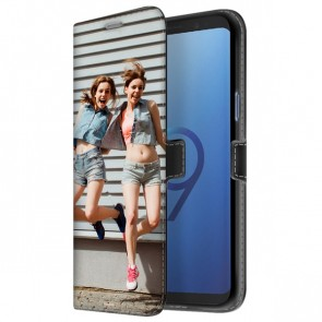 Samsung Galaxy S9 - Personaliseret Tegnebogs Cover (Front Print)