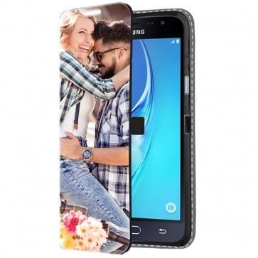 Samsung Galaxy J3 2016 - Portemonnee Hoesje Maken (Voorzijde Bedrukt)
