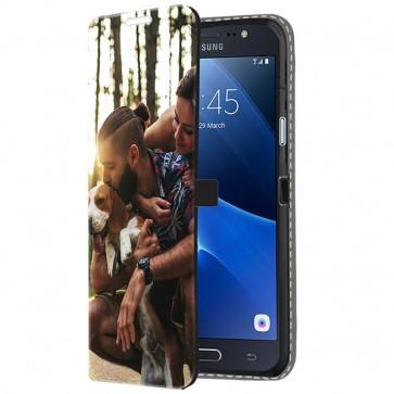 Samsung Galaxy J5 2016 - Portemonnee Hoesje Maken (Voorzijde Bedrukt)