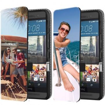 HTC One M9 - Portemonnee Hoesje Maken (Voorzijde Bedrukt)