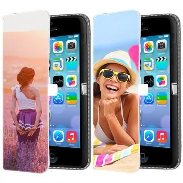 iPhone 5C - Portemonnee Hoesje Maken (Voorzijde Bedrukt)