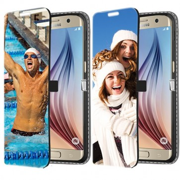 Samsung Galaxy S6 Edge Plus - Portemonnee Hoesje Maken (Voorzijde Bedrukt)