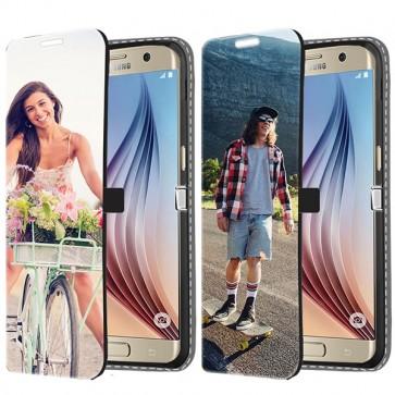 Samsung Galaxy S6 Edge - Portemonnee Hoesje Maken (Voorzijde Bedrukt)