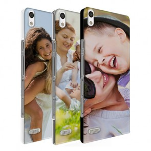 Huawei P6 - Hardcase hoesje ontwerpen -  Zwart, wit of transparant