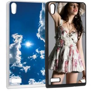 Huawei P6 - Softcase hoesje ontwerpen -  Zwart of wit