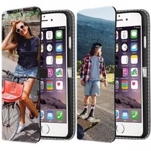 iPhone 7 & 7S PLUS - Portemonnee Hoesje Maken (Voorzijde Bedrukt)