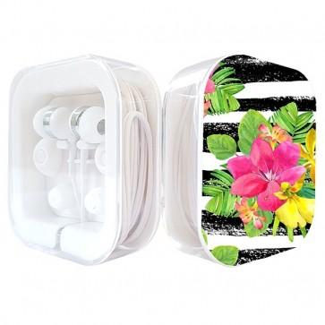 Auriculares de silicona - diseño de caja - blanco