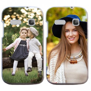 Alcatel One Touch Pop C3 - Funda personalizada rígida - Blanca