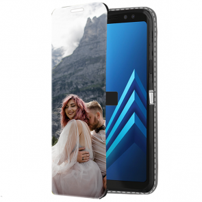 Samsung Galaxy A8 2018 - Carcasa Personalizada Billetera (Impresión Frontal)