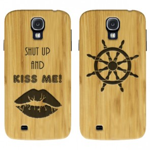 Samsung Galaxy S4  - Funda personalizada de madera de bambú - Grabada