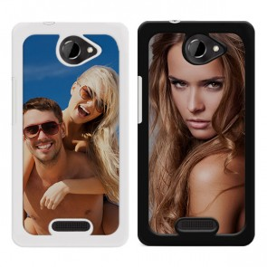 HTC One X y X Plus - Funda personalizada rígida - Negra o blanca