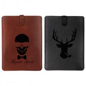 iPad Mini 1/2/3 - Funda personalizada de cuero - Negra o marrón