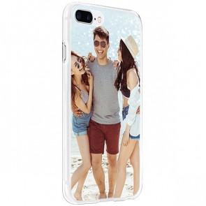 iPhone 8 PLUS - Carcasa personalizada rígida - Negra, blanca o transparente