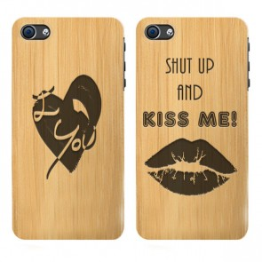 iPhone 6 y 6S  - Funda personalizada de madera de bambú - Grabada