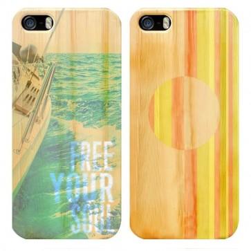 iPhone 6 & 6S - Coque Personnalisée en Bois de Bambou