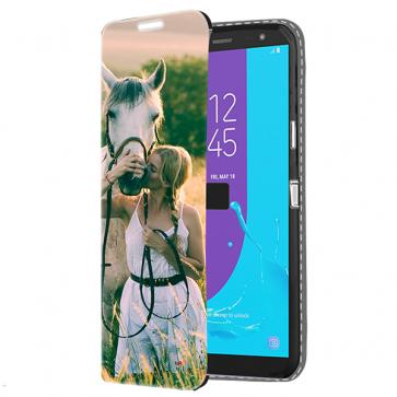 Samsung Galaxy J6 - Coque Portefeuille Personnalisée (Sur L'avant)
