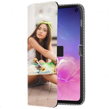 Samsung Galaxy S10 E - Coque Portefeuille Personnalisée (Sur L'avant)