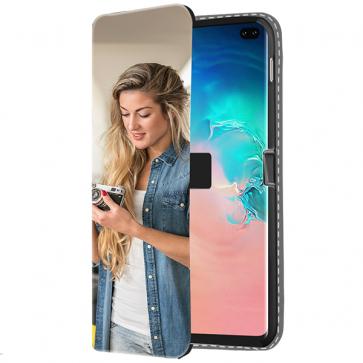 Samsung Galaxy S10 Plus - Coque Portefeuille Personnalisée (Sur L'avant)