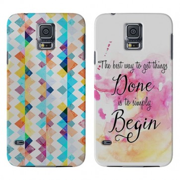 Samsung Galaxy S5 Mini - Coque Rigide Personnalisée à Bords Imprimés