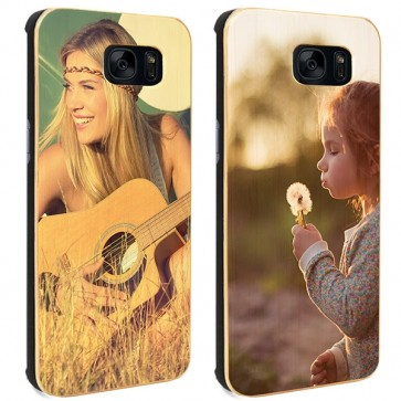 Samsung Galaxy S7 Edge - Coque Personnalisée en Bois de Bambou