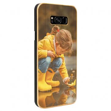 Samsung Galaxy S8 Plus - Coque Personnalisée en Bois de Bambou